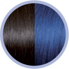 Extensie par natural Seiseta Crazy Dark Chestnut Brown and Blue