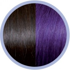 Extensie par natural Seiseta Crazy Dark Chestnut Brown and Violet